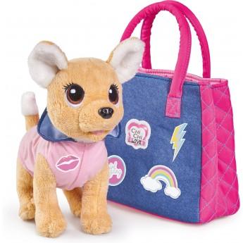Собачка Chi Chi Love Чихуахуа Фэшн Городской стиль в одежде с капюшоном и сумочкой 20 см Simba (5893244)