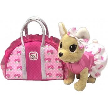 Мягкая игрушка Собачка Chi Chi Love Чихуахуа Розовая мода с сумочкой 20 см Simba (5893346)