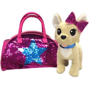 Мягкая игрушка Собачка Chi Chi Love Чихуахуа звезда с пайетками и сумочкой 20 см Simba (5893351)