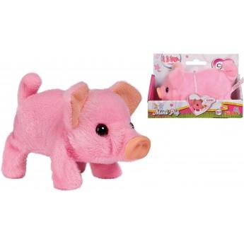 Мягкая игрушка Свинка Chi Chi Love Мини Пиг: ходит, хрюкает и виляет хвостиком 14 см Simba (5893378)