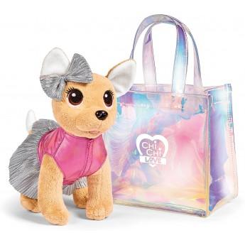 Мягкая игрушка Собачка Chi Chi Love Чихуахуа Фэшн Шиммер с голографической сумочкой 20 см Simba (5893432)