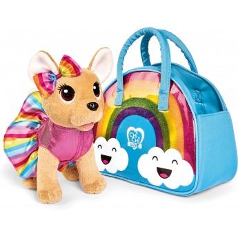Мягкая игрушка Собачка Chi Chi Love Чихуахуа Фэшн Рейнбоу с бантом, платьем и сумочкой 20 см Simba (5893438)