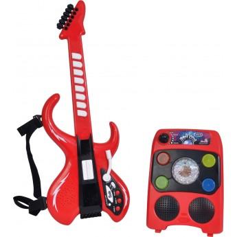 Детская Электрогитара Диско Simba с усилителем и световыми эффектами 8 ритмов 60 см (6834251)