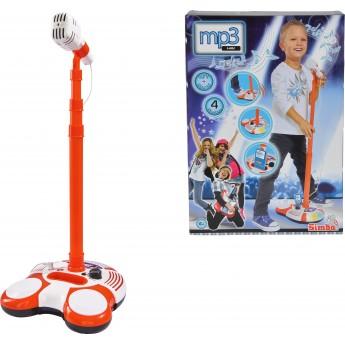 Детский музыкальный Микрофон Simba 102 см со светом и звуком (6837816)
