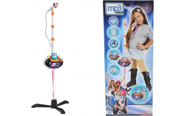 Детский музыкальный Микрофон Simba с разъемом для МР3-плеера светом и звуком (68386150)