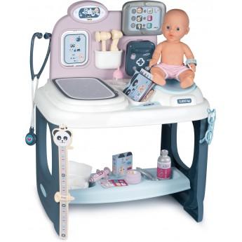 Игровой центр Smoby Toys Уход за куклой со звуком, светом и аксессуарами (240300)
