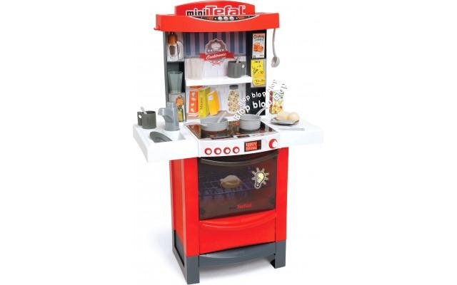 Интерактивная игровая кухня Smoby Тефаль Мастер-Шеф со звуком и световыми эффектами красная (311501)