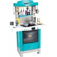 Інтерактивна кухня Smoby Toys Майстер-Шеф з ефектом кипіння і аксесуарами блакитна (311505)