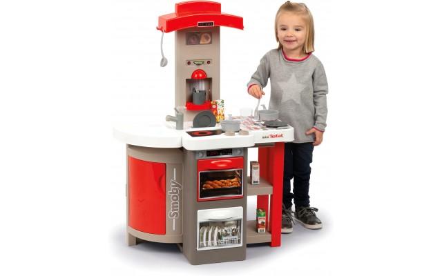 Ігрова дитяча  кухня Smoby Тефаль Кухар з аксесуарами червона (312200)
