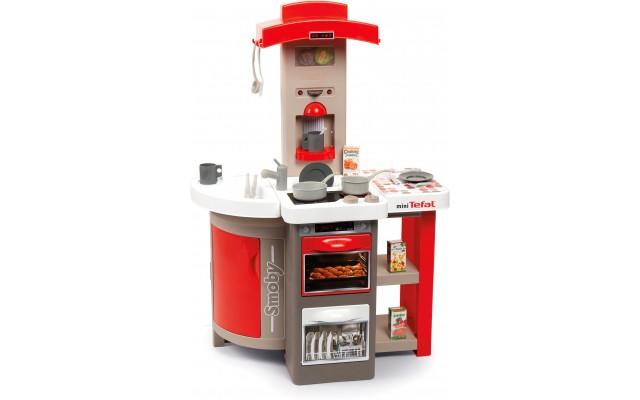 Интерактивная детская кухня Smoby Tefal Повар с эффектом кипения и аксессуарами красная (312203)