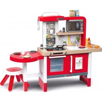 Интерактивная кухня Smoby Toys Тефаль Эволюшен Гурмэ с аксессуарами эффектом кипения и звуками красная (312302)