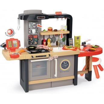 Детский ресторан-кухня Smoby Toys У Шеф-повара со светом, звуком и аксессуарами (312303)