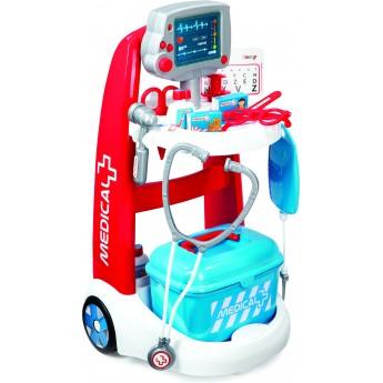 Детский набор Smoby Тележка медицинской помощи с оборудованием и аксессуарами (340202)