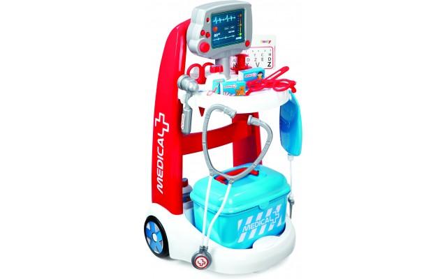 Дитячий набір Smoby Візок медичної допомоги з обладнанням і аксесуарами (340202)