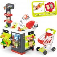 Детский набор Smoby Интерактивный супермаркет City Market со звуковыми эффектами, тележкой и аксессуарами (350213)