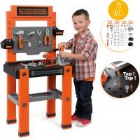 Детская Мастерская с инструментами Smoby Toys Блэк+Деккер с 79 аксессуарами и 2 боксами (360700)