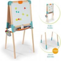 Двосторонній дерев'яний мольберт Smoby Toys Веселе навчання (410400)