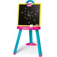 Мольберт Smoby Toys со съемной доской розово-голубой (410608)