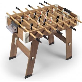 Футбольный стол деревянный раскладной Smoby Toys Click & Goal (620700)