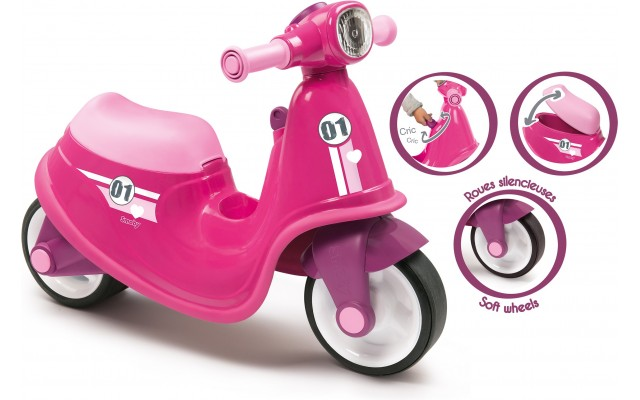 Дитячий скутер-каталка Smoby Toys рожевий (721002)