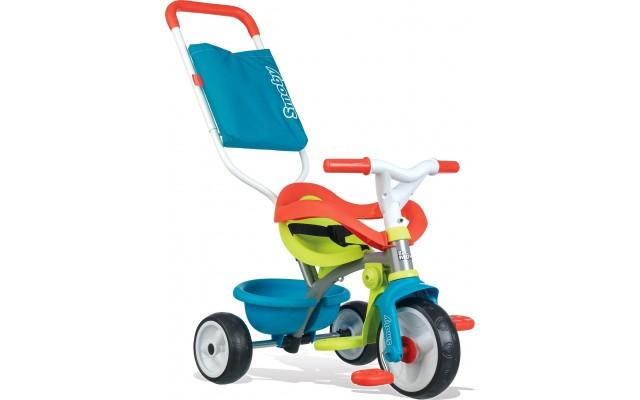 Дитячий велосипед Smoby Toys Be Move з ручкою, багажником і сумкою-конвертом синьо-зелений (740401)
