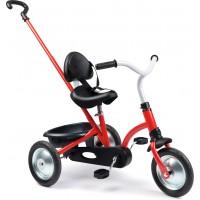 Велосипед Smoby Toys Зуки с родительской ручкой и багажником красный (740800)