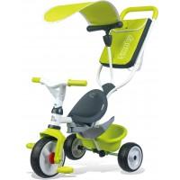 Велосипед Smoby Toys трехколесный с козырьком багажником и сумкой зеленый (741100)