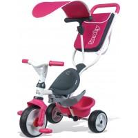 Дитячий велосипед Smoby Toys з козирком, багажником і сумкою рожевий (741101)