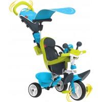 Детский велосипед Smoby Toys Беби Драйвер с козырьком и багажником голубо-зеленый (741200)