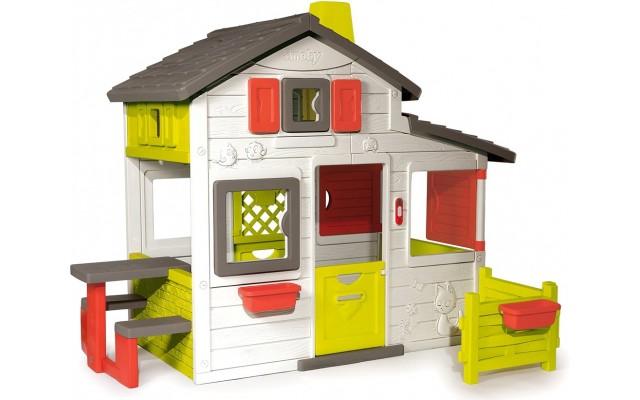 Игровой домик Smoby Для друзей с чердаком и звонком (310209)