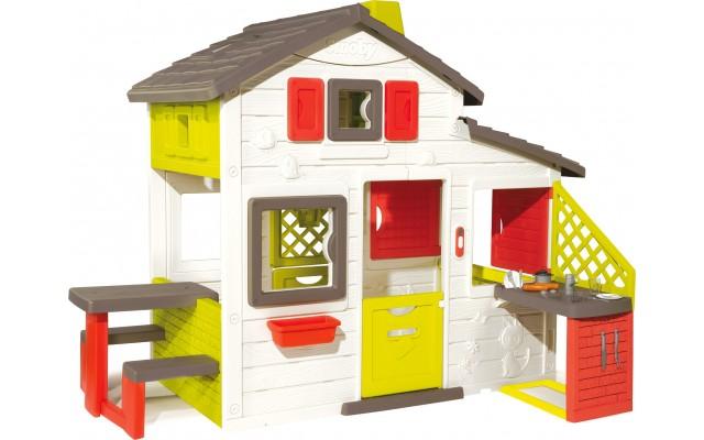 Детский игровой домик Smoby с чердаком и летней кухней (810200)