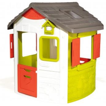 Детский домик лесника Smoby Нео пластмассовый со ставнями (810500)