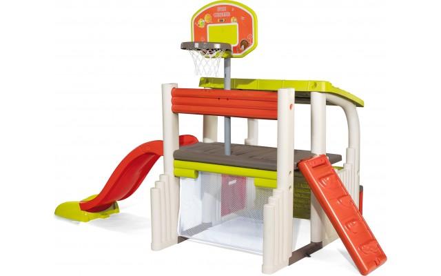 Игровой комплекс Smoby Развлечения с футболом, баскетболом и горкой (840203)