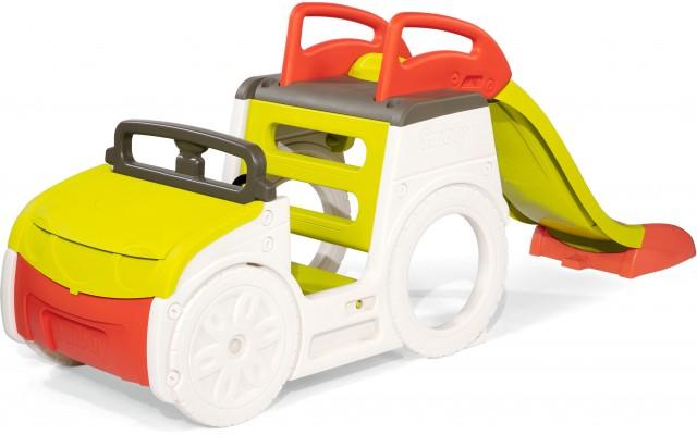 Игровой центр Smoby Автомобиль путешественника с горкой, песочницей и звуком (840205)