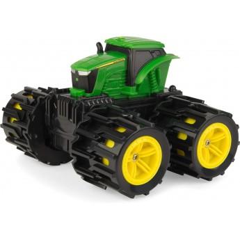 Игрушка John Deere мини-трактор Monster Treads с расширяющимися колесами 15 см Tomy (46711)