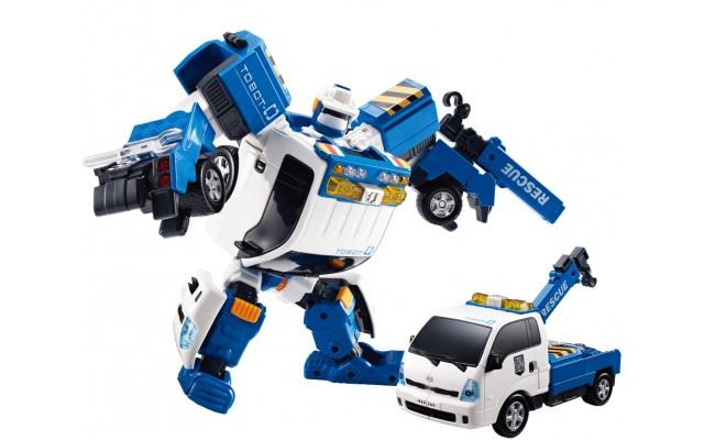 Игрушка-трансформер Tobot S3 ТОБОТ ZERO с подъемным краном 21 см Young Toys (301018)