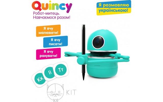 Дитячий навчальний робот-художник Quincy Квінсі з озвученням на укр. мові (MS.06.0015-U)