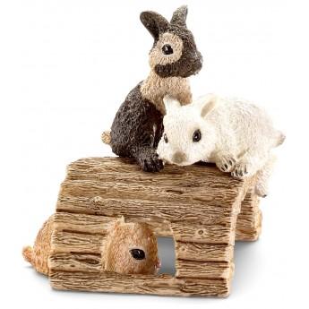 Фигурки Schleich Играющие крольчата (Шляйх)