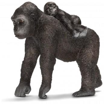 Фигурка Schleich Самка гориллы с детенышем (Шляйх)