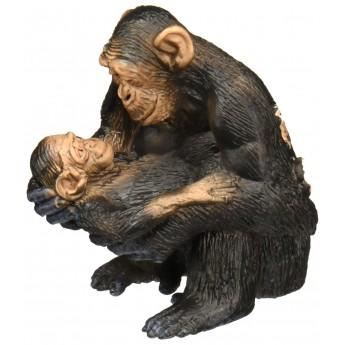 Фигурка Schleich Самка шимпанзе с детенышем (Шляйх)