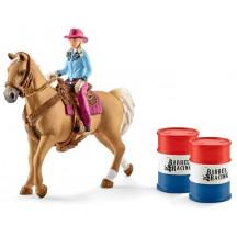 Фигурки Schleich всадница-ковбой на лошади (41417)