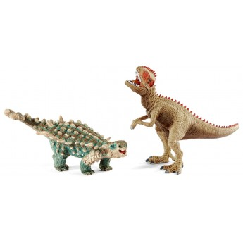 Фигурки Schleich динозавры Сайшания и  гигантозавр (Шляйх)