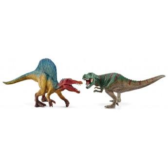 Фигурки Schleich динозавры Спинозавр и тираннозавр (Шляйх)