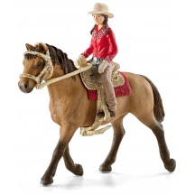 Фигурки Schleich всадница Western с лошадью (42112)