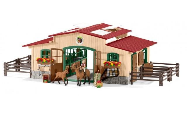 Игровой набор Schleich конюшня коричневая Шляйх (42195)