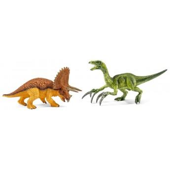 Фигурки Schleich динозавры Трицератопс и теризинозавр (Шляйх)