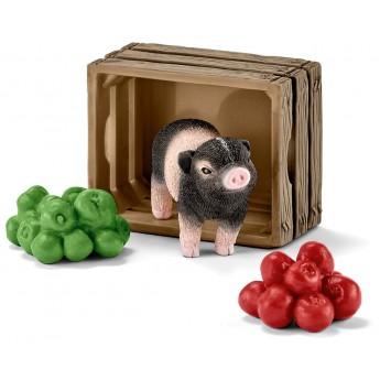 Фігурка Schleich Міні-порося з яблуками (Шляйх)