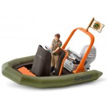Игровой набор Schleich лодка с рейнджером (42352)
