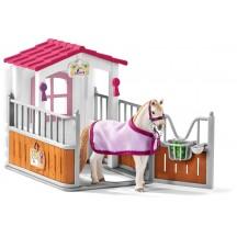 Игровой набор Schleich Лузитанская лошадь в стойле (42368)