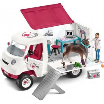 Ігровий набір Schleich Дівчина-ветеринар в фургоні (42370)